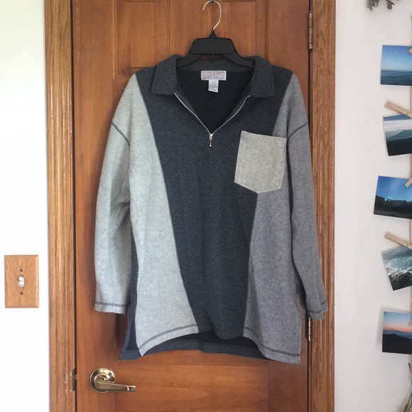 Spice of Life Sweaters - Oversized gray zip up sweater